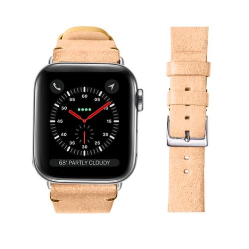 Bracelet cuir végétal Apple Watch 38 mm - Naturel - Cuir végétal