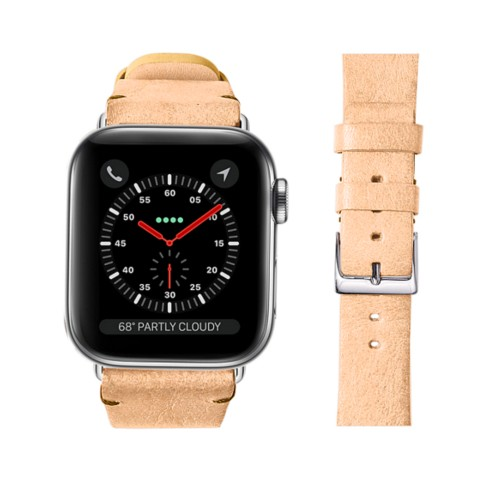 Apple Watch バンド 38 mm ベジタブルなめしレザー - Natural - Vegetable Tanned Leather