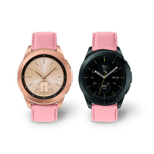 Samsung Galaxy Watch 42mm - 20mm - Pink - Smooth Leather