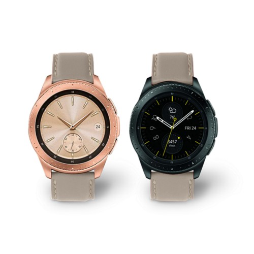 Samsung Galaxy Watch 42mm - 20mm - Light Taupe - Smooth Leather