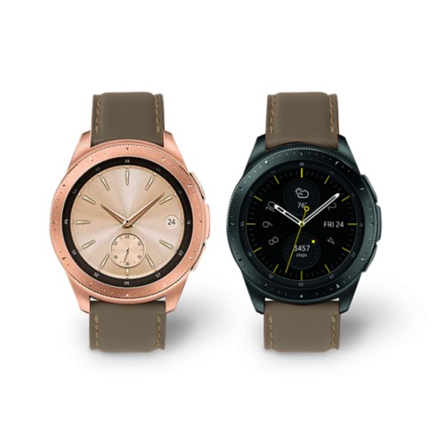 Samsung Galaxy Watch 42mm - 20mm - Dark Taupe - Smooth Leather