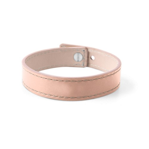 Leather Bracelet for Men & Women - Nude - Smooth Leather