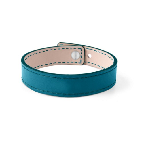 Leather Bracelet for Men & Women - Turquoise - Smooth Leather