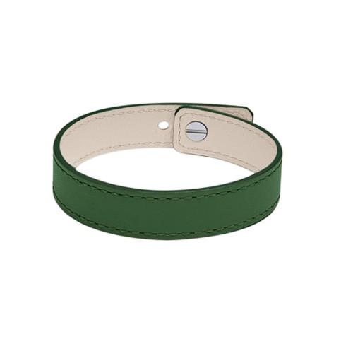 Armband aus Leder für Herren & Damen - Dunkelgrün - Glattleder