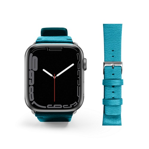 Cinturino per Apple Watch da 42/44 mm Urban Chic - Turchese - Pelle di Capra