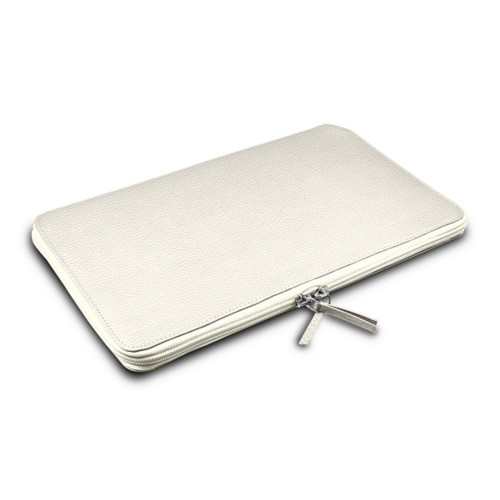 Grande Funda para MacBook Air 13 inch - Blanco Crudo - Piel Grano