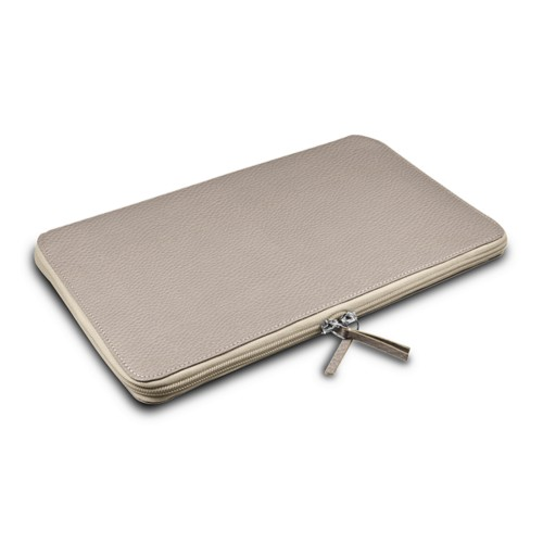 Grande Funda para MacBook Air 13 inch - Taupe Luz - Piel Grano