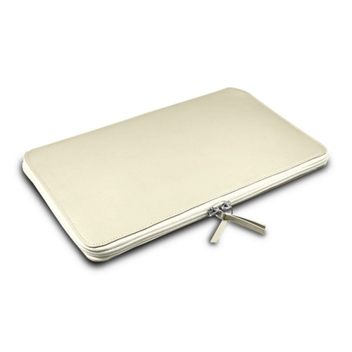 Grande Funda para MacBook Air 13 inch - Blanco Crudo - Piel Liso