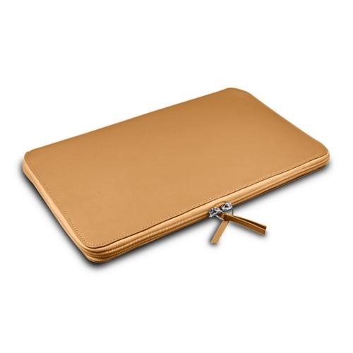 Grande borsa con cerniera per MacBook Air 13 inch - Naturele - Pelle Liscia