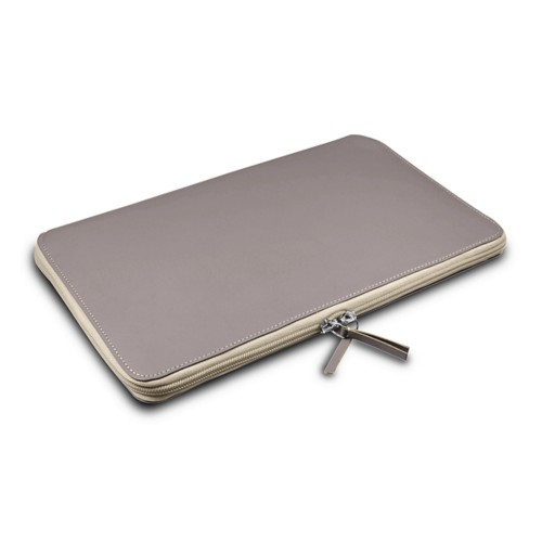 Grande Funda para MacBook Air 13 inch - Taupe Luz - Piel Liso
