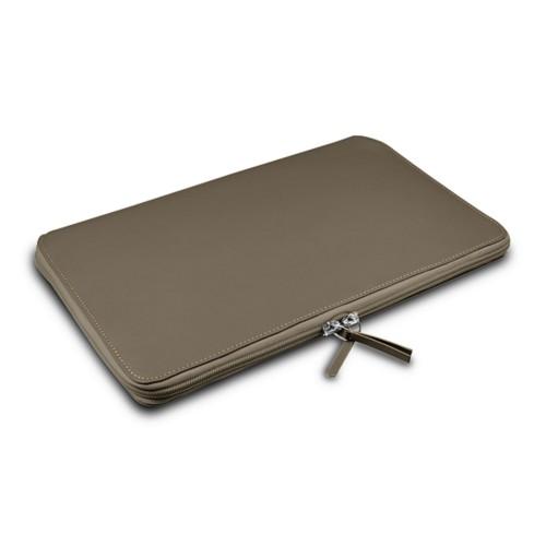 Grande Funda para MacBook Air 13 inch - Marrón topo - Piel Liso