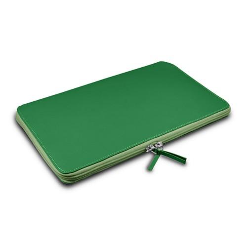Grande Funda para MacBook Air 13 inch - Verde claro - Piel Liso