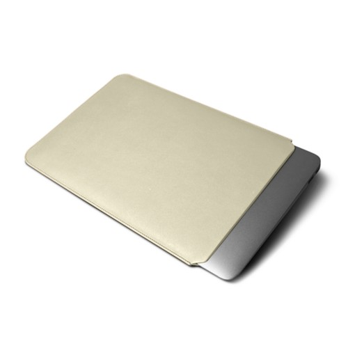 Custodia per MacBook Air 13 pollici - Avorio - Pelle Liscia