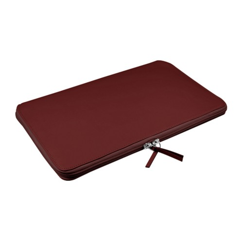 Calfskin zip-up laptop bag for MacBook Air 11 inch