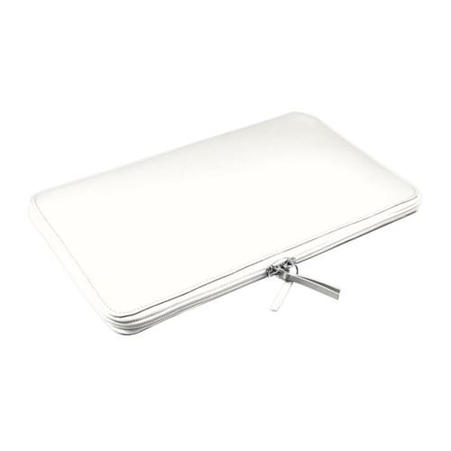Funda de portátil con cremallera MacBook Air - 11 pulgadas - Blanco - Piel Liso