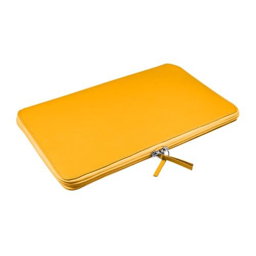Rivestimento Computer Portatile per MacBook Air 11 pollici - Giallo sole - Pelle Liscia