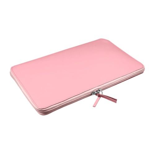 Funda de portátil con cremallera MacBook Air - 11 pulgadas - Rosa - Piel Liso