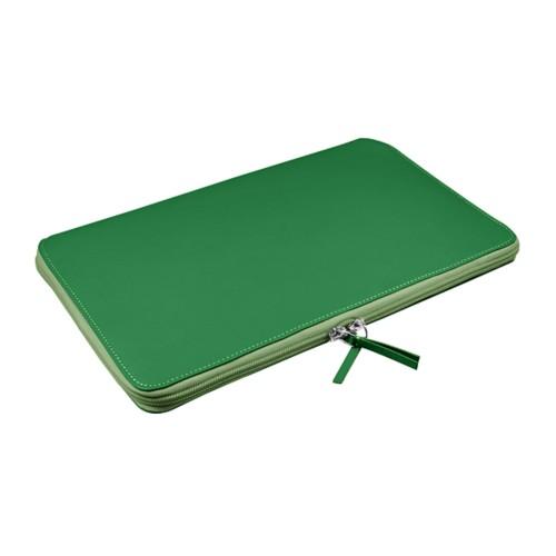Funda de portátil con cremallera MacBook Air - 11 pulgadas - Verde claro - Piel Liso