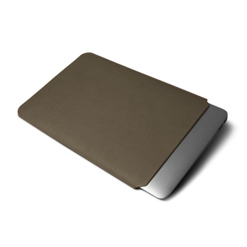 Funda de protección para MacBook Air 11 pulgadas - Marrón topo - Piel Grano