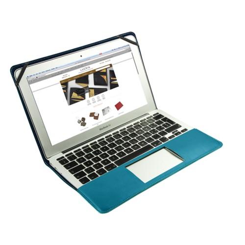 Funda de cuero para MacBook Air de 11 pulgadas - Azul turqués - Piel Coco Grabado