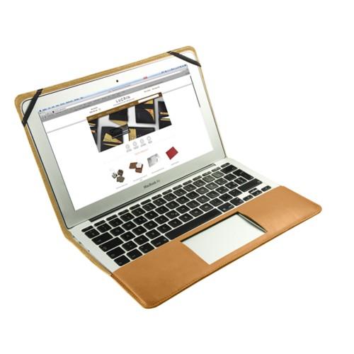 Scrigno semirigido in cuoio per MacBook Air 11 pollici - Naturele - Pelle Liscia