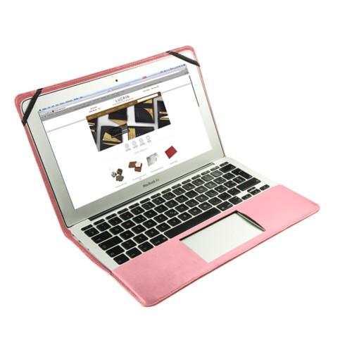 Funda de cuero para MacBook Air de 11 pulgadas - Rosa - Piel Liso