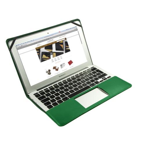 Funda de cuero para MacBook Air de 11 pulgadas - Verde claro - Piel Liso