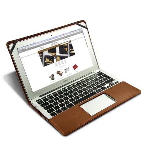 Funda de cuero para MacBook Air de 13 pulgadas - Camel - Piel Coco Grabado