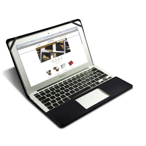 Scrigno semirigido in cuoio per MacBook Air 13 pollici - Nero - Pelle imitazione coccodrillo