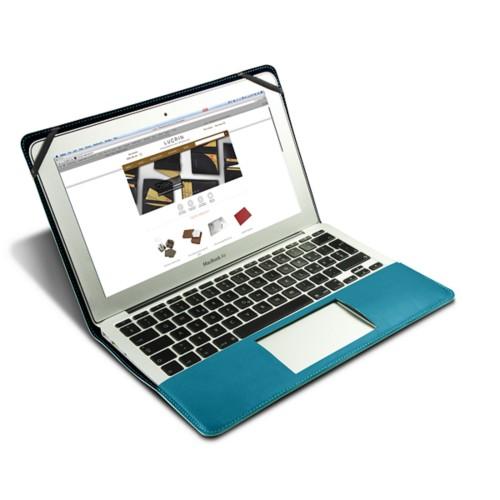 Funda de cuero para MacBook Air de 13 pulgadas - Azul turqués - Piel Coco Grabado