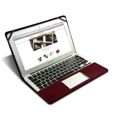 Funda de cuero para MacBook Air de 13 pulgadas - Bordeos - Piel Grano