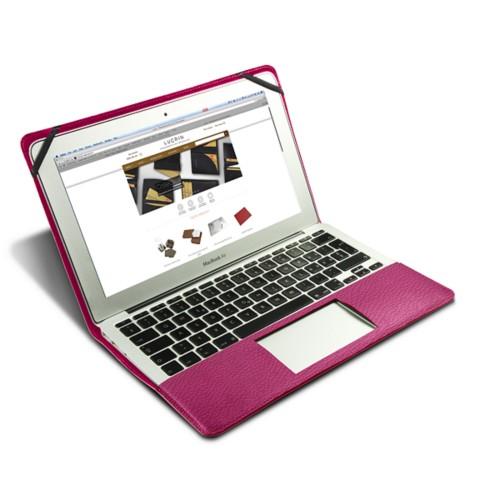 Funda de cuero para MacBook Air de 13 pulgadas - Fuchsia  - Piel Grano