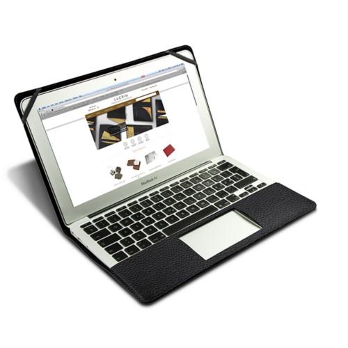 Scrigno semirigido in cuoio per MacBook Air 13 pollici - Nero - Pelle Ruvida