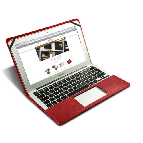 Funda de cuero para MacBook Air de 13 pulgadas - Rojo - Piel Grano