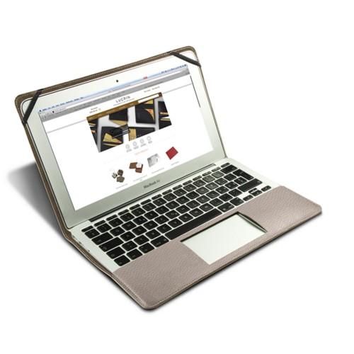 Funda de cuero para MacBook Air de 13 pulgadas - Taupe Luz - Piel Grano