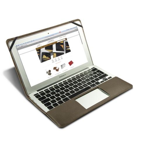Funda de cuero para MacBook Air de 13 pulgadas - Marrón topo - Piel Grano