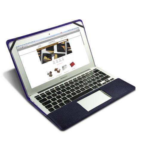 Funda de cuero para MacBook Air de 13 pulgadas - Violeta - Piel Grano