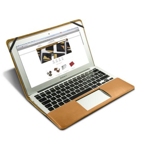 Scrigno semirigido in cuoio per MacBook Air 13 pollici - Naturele - Pelle Liscia