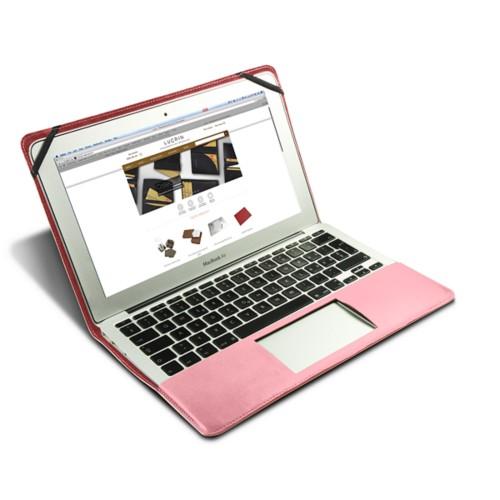 Funda de cuero para MacBook Air de 13 pulgadas - Rosa - Piel Liso
