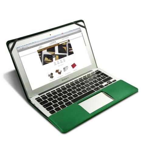 Funda de cuero para MacBook Air de 13 pulgadas - Verde claro - Piel Liso