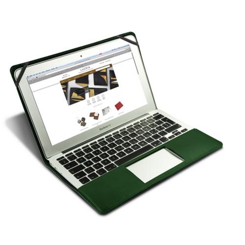 Scrigno semirigido in cuoio per MacBook Air 13 pollici - Verde scuro - Pelle Liscia