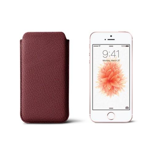 Classic iPhone SE/5/5s sleeve - Burgundy - Goat Leather