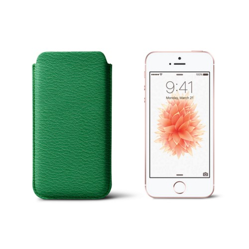 Classic iPhone SE/5/5s sleeve - Light Green - Goat Leather
