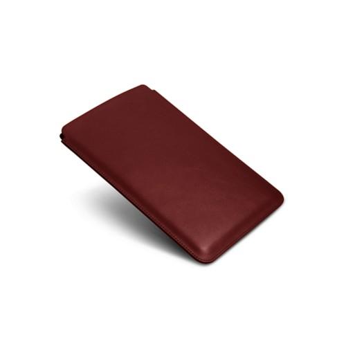 Schutzhülle für iPad Mini 2 - Weinrot - Glattleder