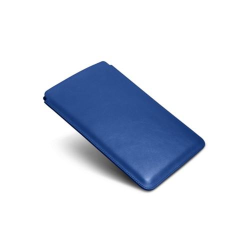 Schutzhülle für iPad Mini 2 - Azurblau  - Glattleder
