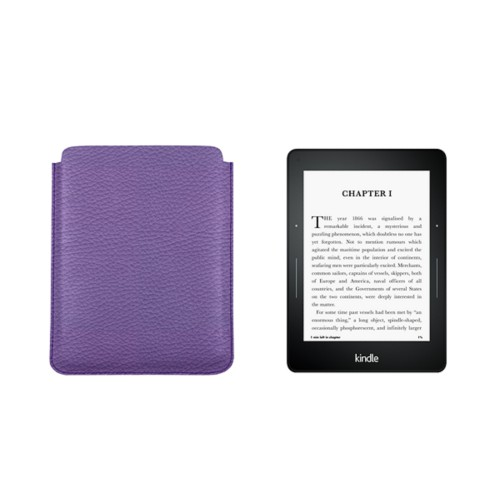 Kindle Paperwhite case - Lavender - Granulated Leather