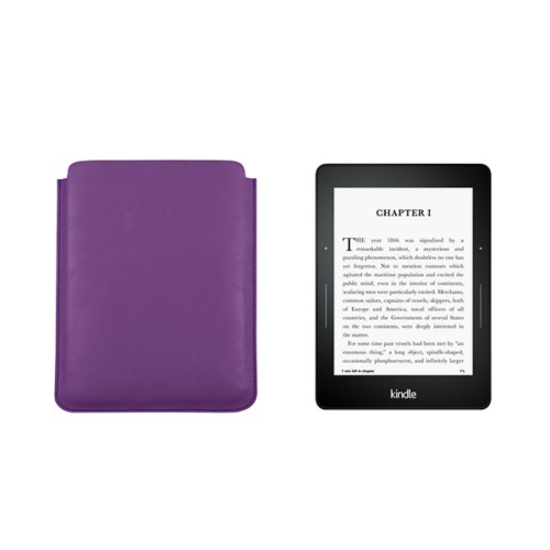 Kindle Paperwhite case - Lavender - Smooth Leather