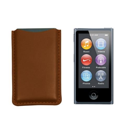 Tasche für iPod Nano - Cognac - Glattleder
