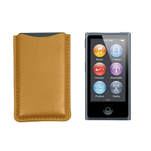Tasche für iPod Nano - Senfgelb - Glattleder