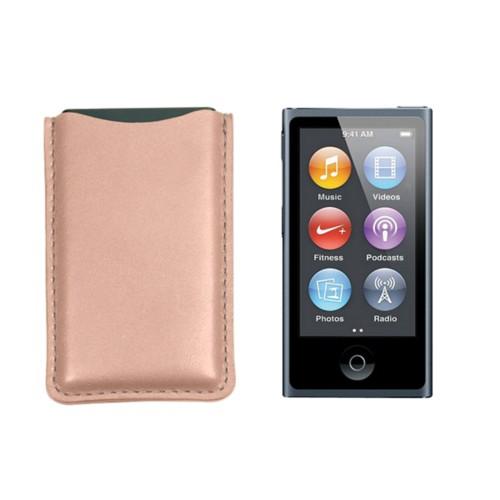 Tasche für iPod Nano - Nude - Glattleder